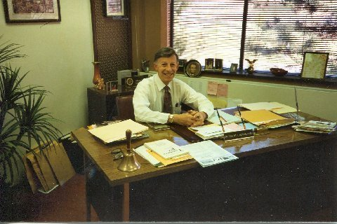 Robert L. Heichberger, a few days before his retirement in 1997 from the State University 2at Fredonia.
